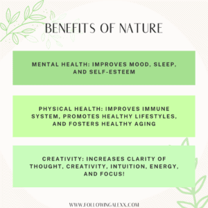 a graphic describing the benefits of nature