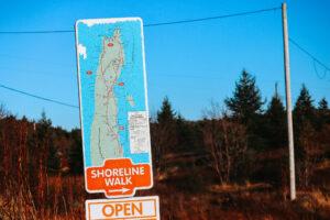 Madrock Shoreline Trail Sign