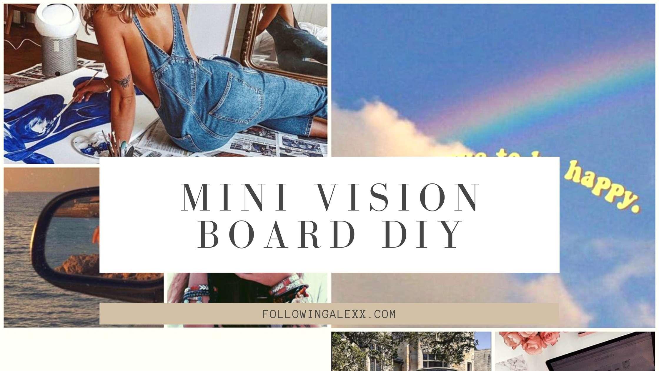 MINI VISION BOARD DIY